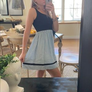 Loft blue and white stripes nautical dress